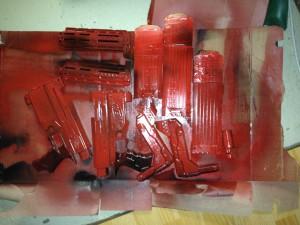 Sprayen der Retaliator Crimson Red