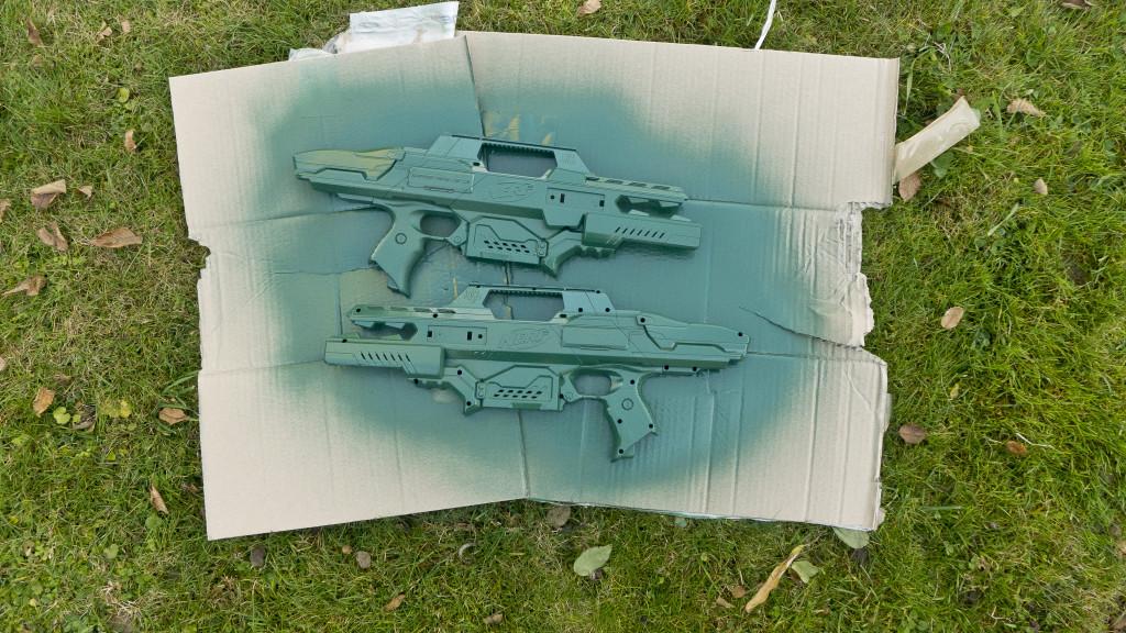 Rapdistrike Body grün gesprayt. Rapidstrikemod.